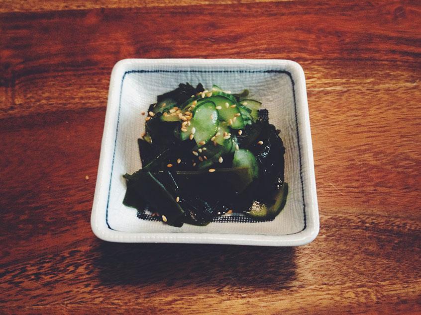 Sunomono mit Gurke und Wakame   Gurke-Wakame-Salat